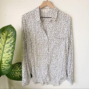 Cloth & Stone   Leopard Buttondown